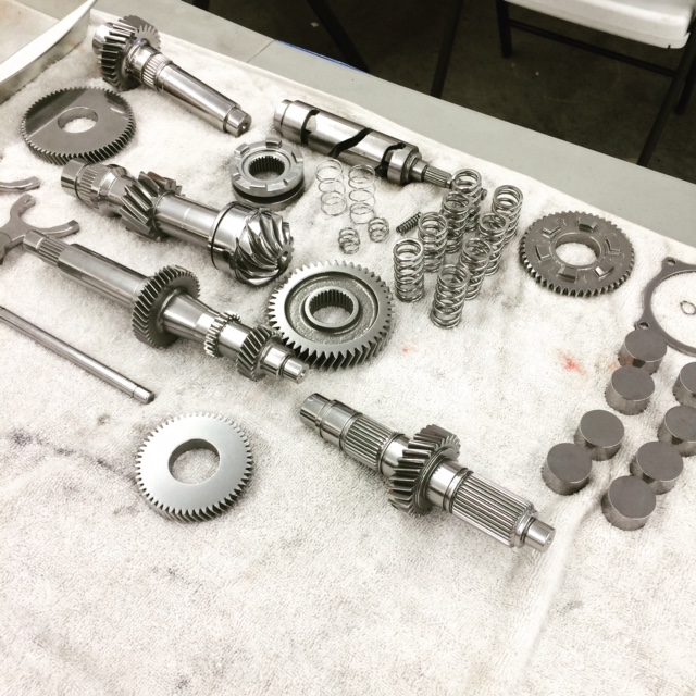 engine parts polished